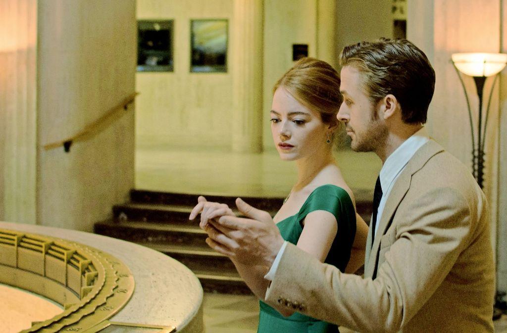 Sie tanzen  durchs Leben, aber wie lange noch? Emma Stone und Ryan Gosling überzeugen als Liebespaar in der Krise. Foto: Studiocanal