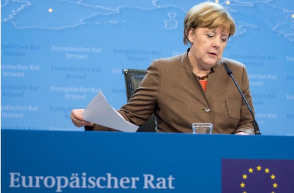 Schwierige Zeiten für Angela Merkel: auf dem EU-Gipfel gelang es der Kanzlerin nicht, eine gemeinsame und solidarische Lösung der Flüchtlingskrise zu organisieren. Foto: EPA
