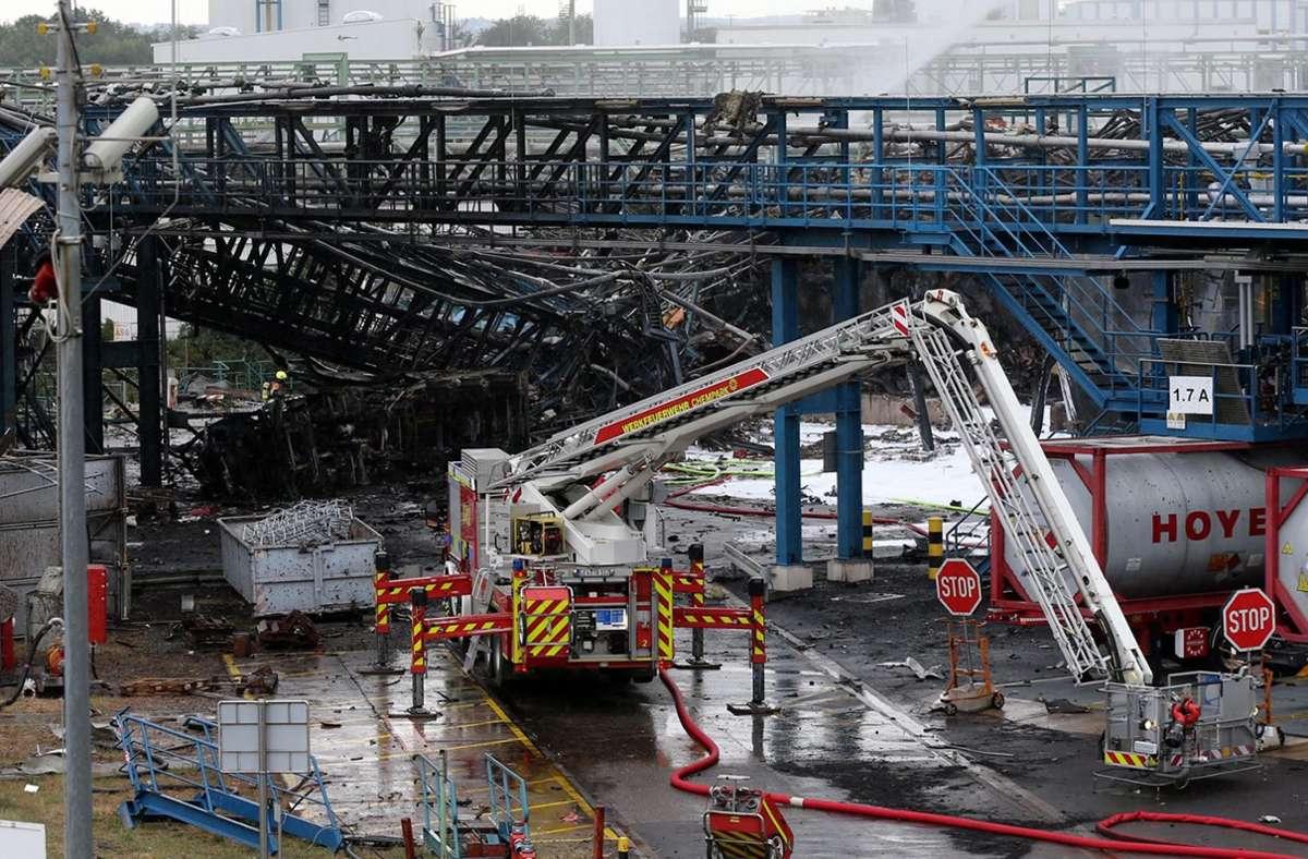 Die Explosion hatte mindestens zwei Menschen getötet, weitere Mitarbeiter werden noch vermisst. Foto: dpa