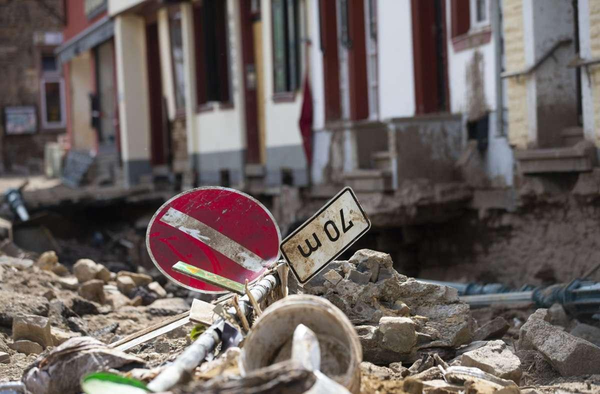 Die Schäden sind nach der Flutkatastrophe enorm. Foto: dpa/Thomas Banneyer