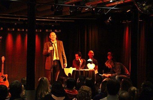 Die Ich-Erzähler  (von links): Ingo Klopfer, Ralf Welteroth, Rainer Bauck, Carolin M. Hafen und Marcus Sauermann Foto: Eveline Blohmer