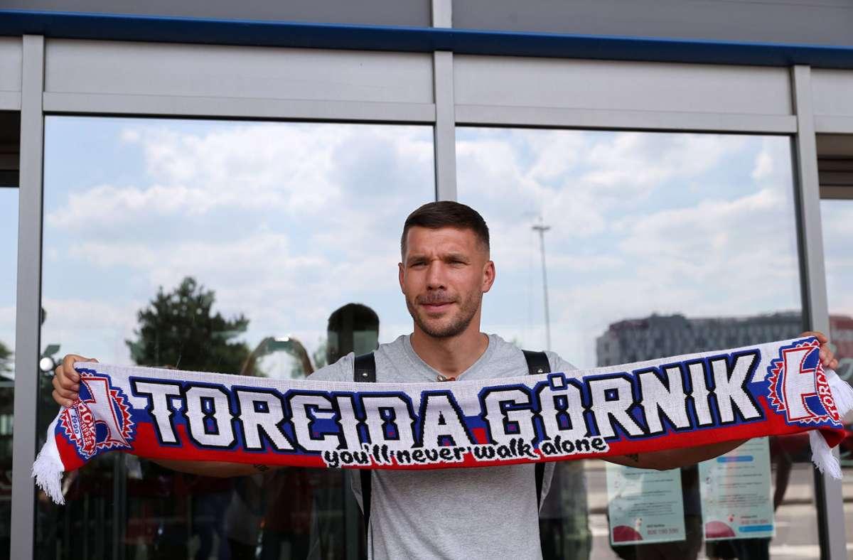 Heuert beim polnischen Erstligisten Gornik Zabrze an: Lukas Podolski Foto: dpa/Andrzej Grygiel