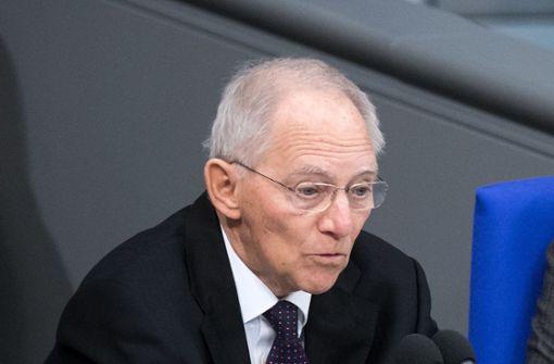 Rabiater Wolfgang Schäuble verärgert die Abgeordneten