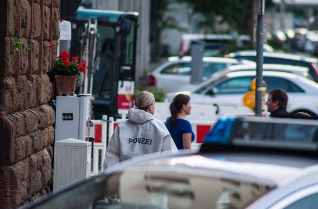 Am Tatort im Stuttgarter Osten wurden viele Spuren gesichert. Foto: 7aktuell.de/Sven Franz