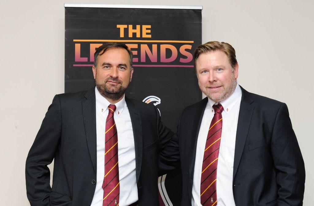 Zwei Deutsche in England: Edin Rahic (li.) und Stefan Rupp sind Eigentümer von Bradford City. Foto: BCFC