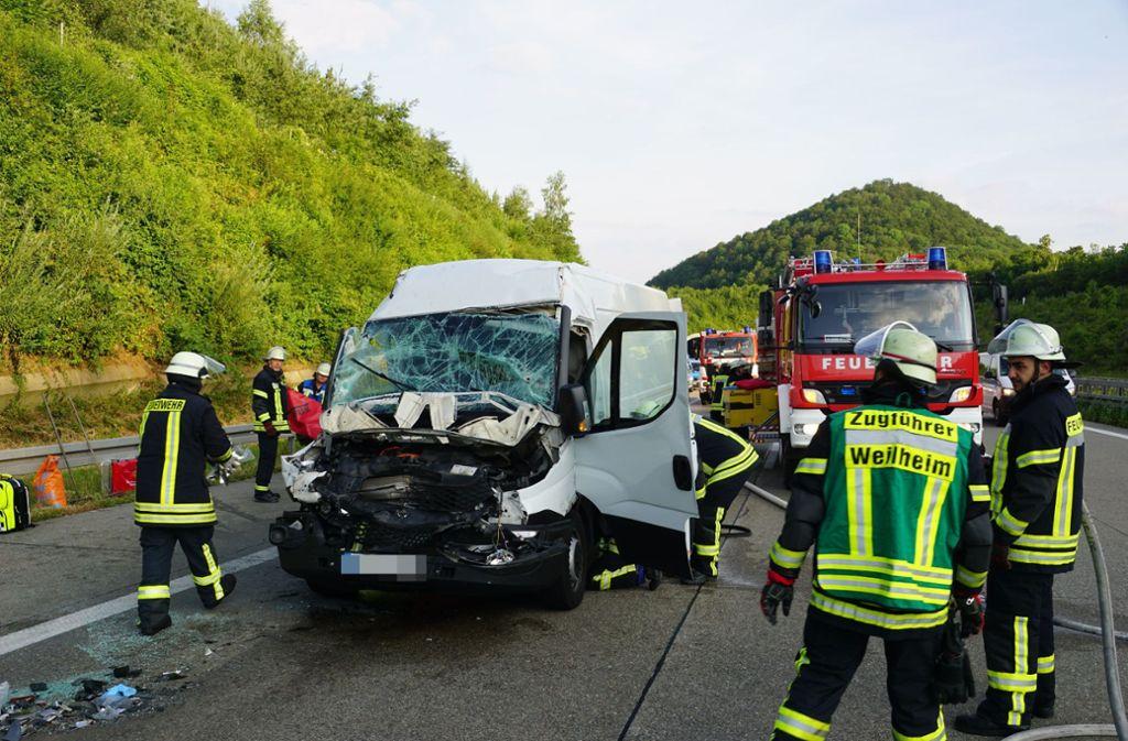 Auf der A8 bei Gruibingen hat es am Dienstagmorgen heftig gekracht. (Symbolbild) Foto: SDMG
