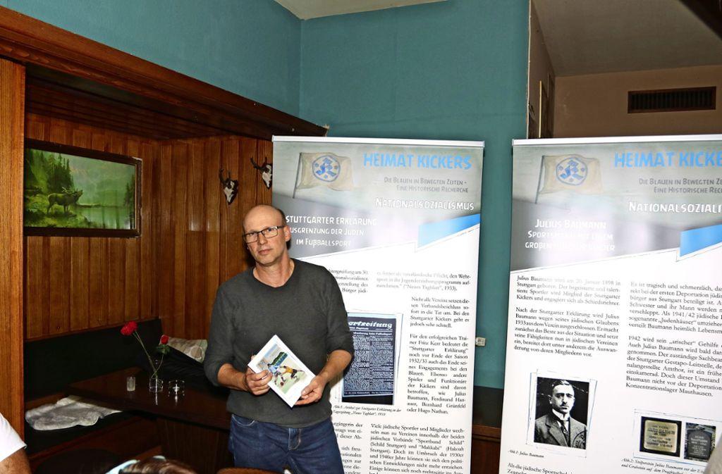 Frank Baum hat bei der Recherche der Kickers-Geschichte maßgeblich mitgewirkt. Foto: privat/ Uwe Zimmermann