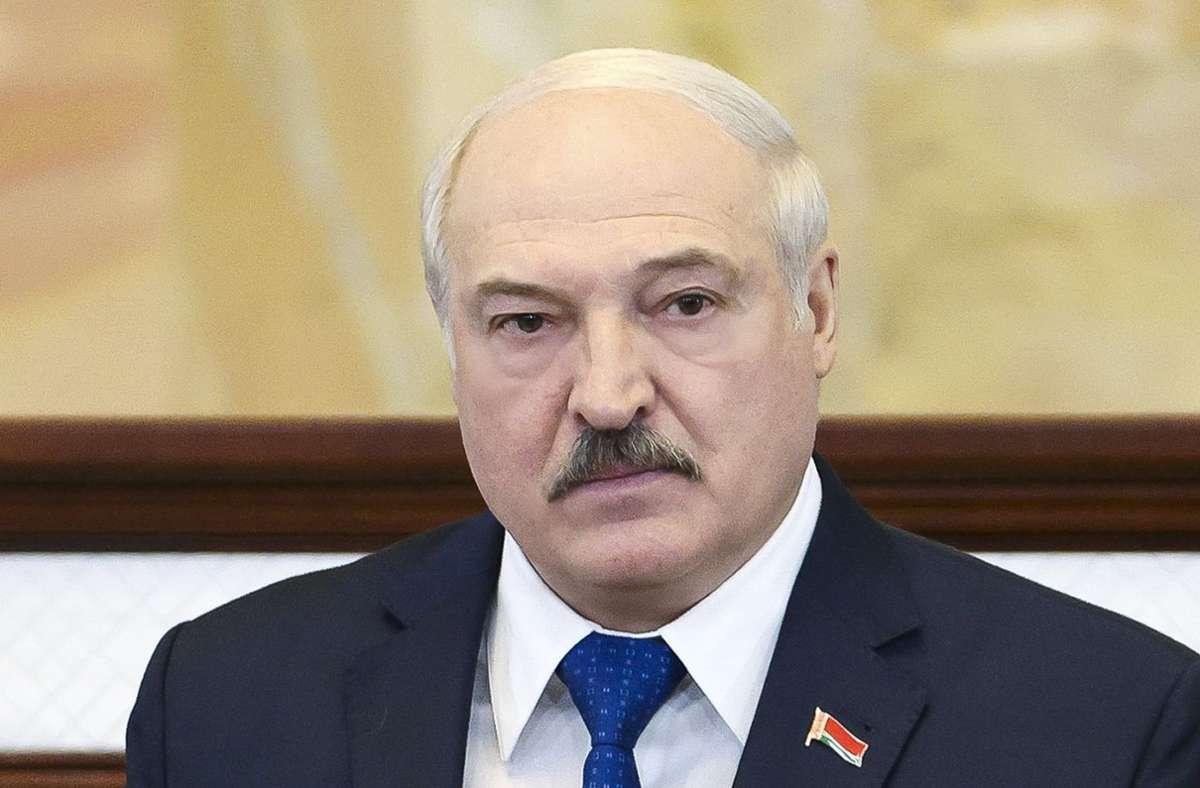Alexander Lukaschenko – die EU begegnet seinem Verhalten mit scharfen Wirtschaftssanktionen. Foto: dpa/Sergei Shelega