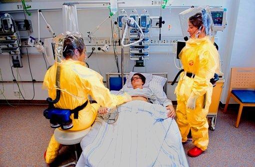 Kapazität nur für einen  Ebola-Fall