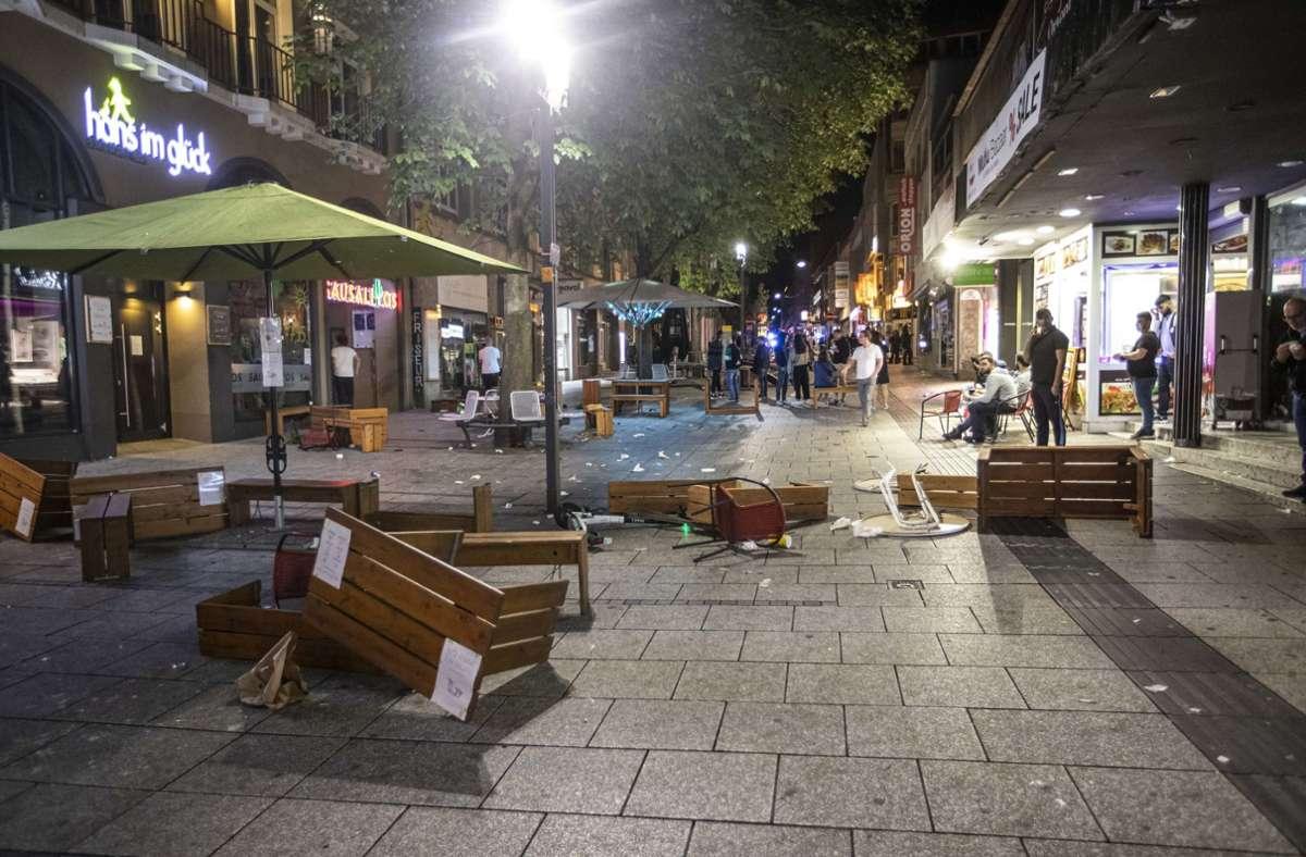 Hätten die Randale in der Nacht auf Sonntag in Stuttgart verhindert werden können? Foto: dpa/Simon Adomat