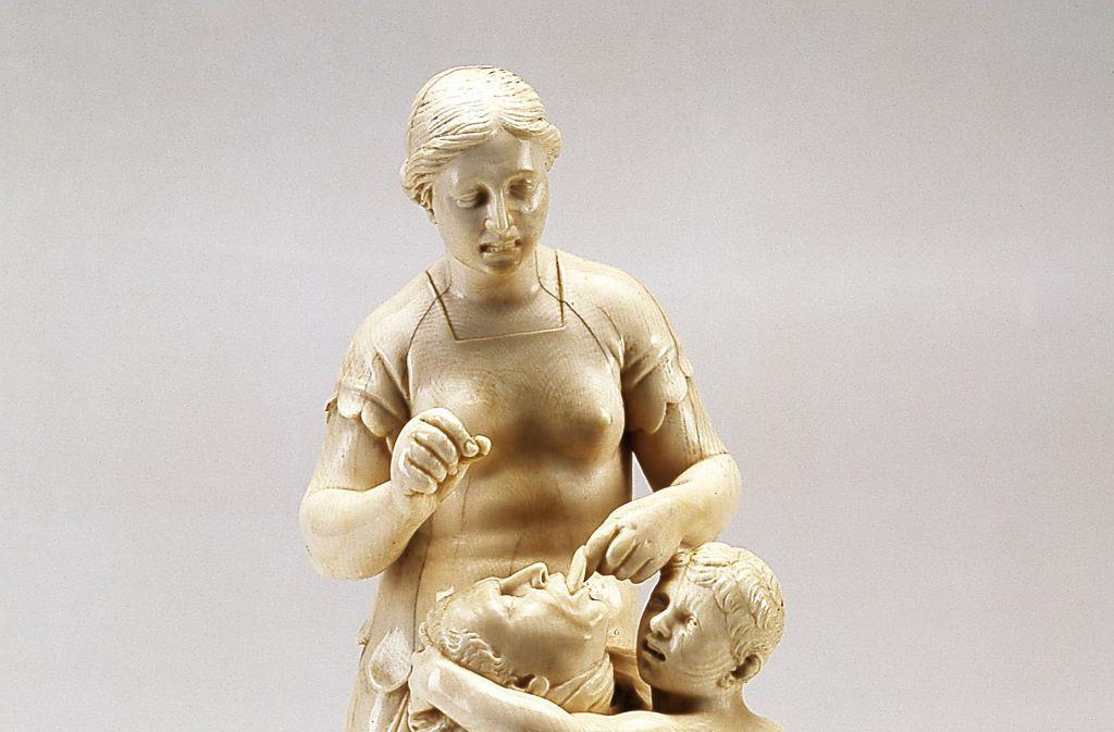 """""""Fulvia"""", eine Barockschnitzerei aus Elfenbein vom Bildschnitzer Leonhard Kern, wurde 2016 im Landesmuseum gestohlen. Foto: Badisches Landesmuseum Karlsruhe"""