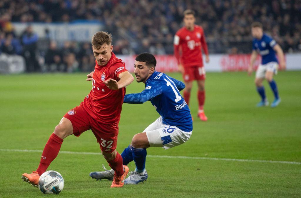 Joshua Kimmich entschied mit seinem Treffer das Spiel gegen den FC Schalke 04. Foto: dpa/Bernd Thissen