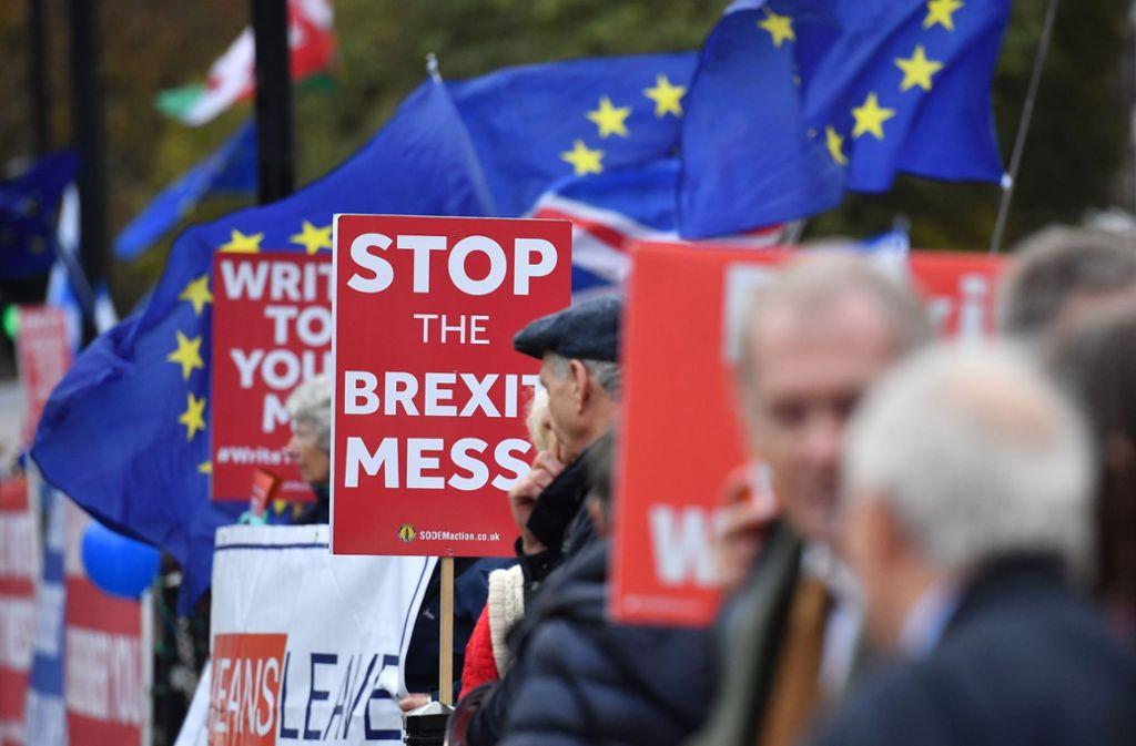 Die britische Bevölkerung ist tief gespalten zwischen Befürwortern des Brexit und Gegnern. Foto: AFP