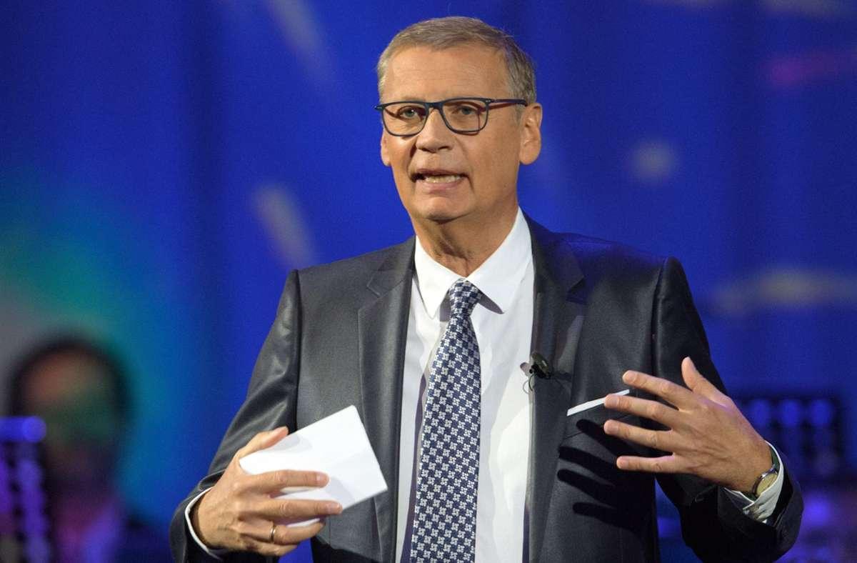 TV-Moderator und Quotenmagnet Günther Jauch  machte im April  2020 öffentlich, dass er sich mit dem Coronavirus angesteckt hat. Foto: dpa/Soeren Stache
