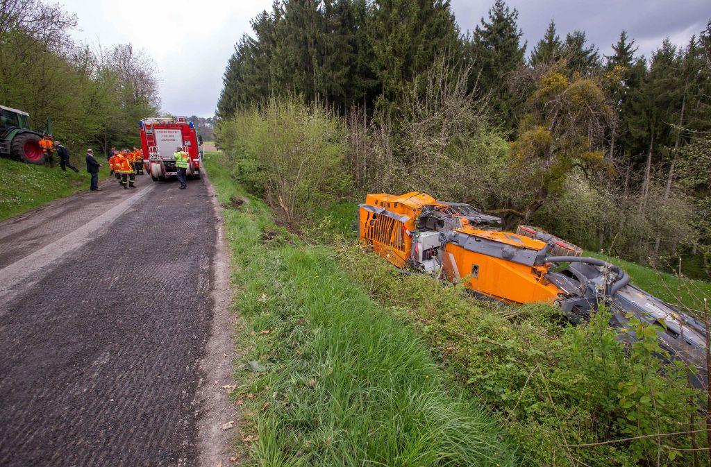 Bei einem tragischen Arbeitsunfall zwischen Oppenweiler und Schiffrain wird ein 54-Jähriger tödlich und ein 56-Jähriger schwer verletzt. Foto: 7aktuell.de/Simon Adomat