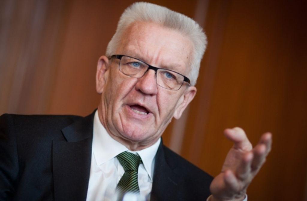 Der bekannteste Landtagskandidat in der Region Stuttgart ist Ministerpräsident Winfried Kretschmann. Er tritt im Wahlkreis Nürtingen an. Foto: dpa