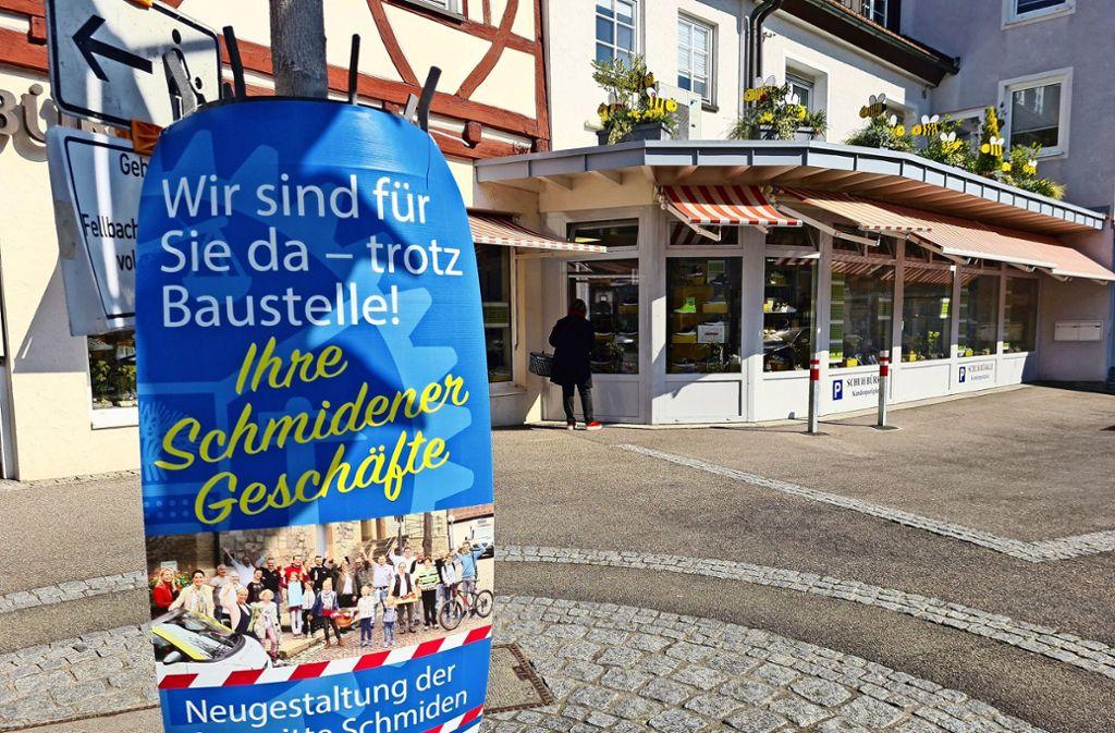 Tristesse im Einzelhandel auch in Schmiden. Nach der Baustelle sorgt der Coronavirus für einen Umsatzeinbruch. Foto: Patricia Sigerist
