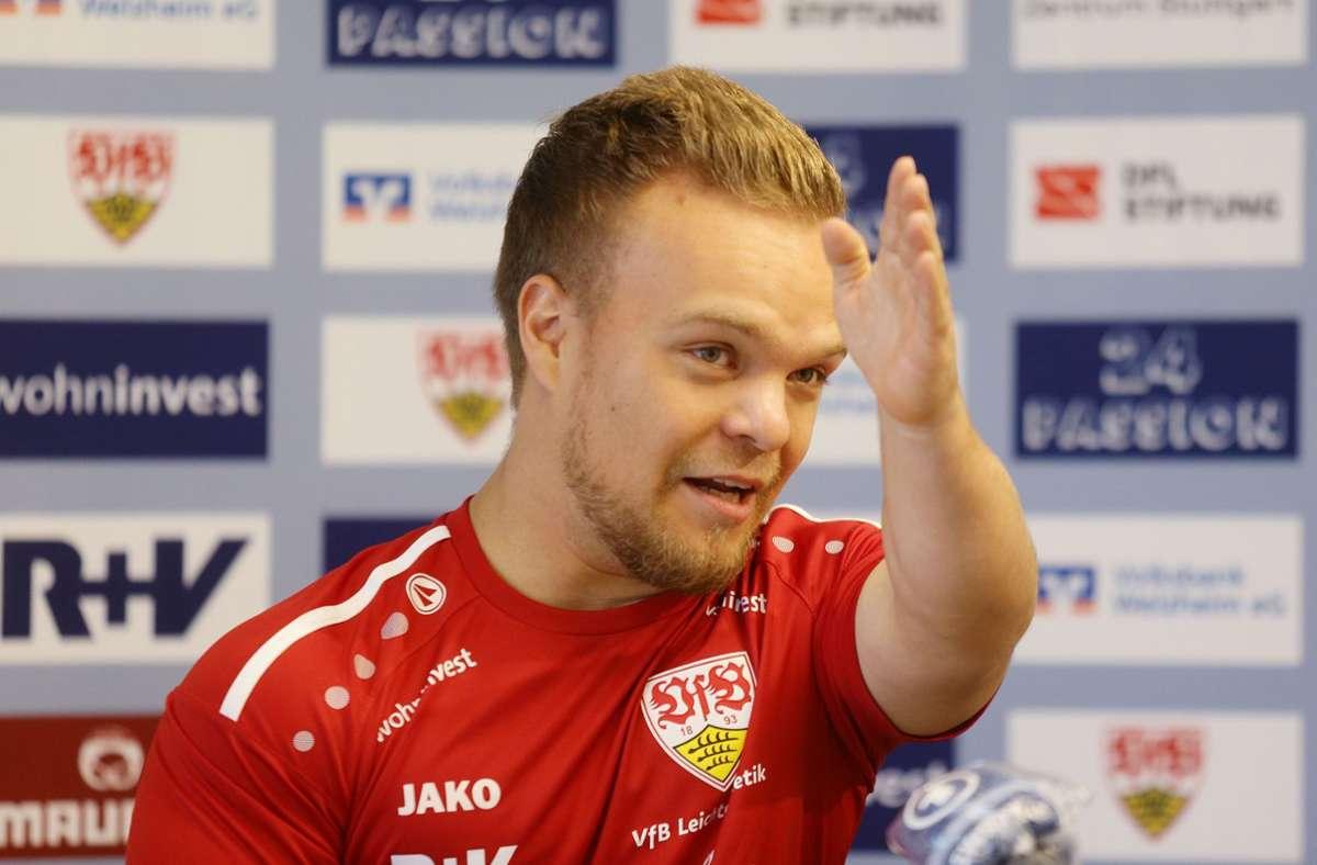 Der sehr erfolgreiche Kugelstoßer des VfB Stuttgart: Niko Kappel Foto: Pressefoto Baumann/Hansjürgen Britsch