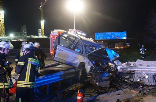 Schwerverletzte bei Unfall auf der A8