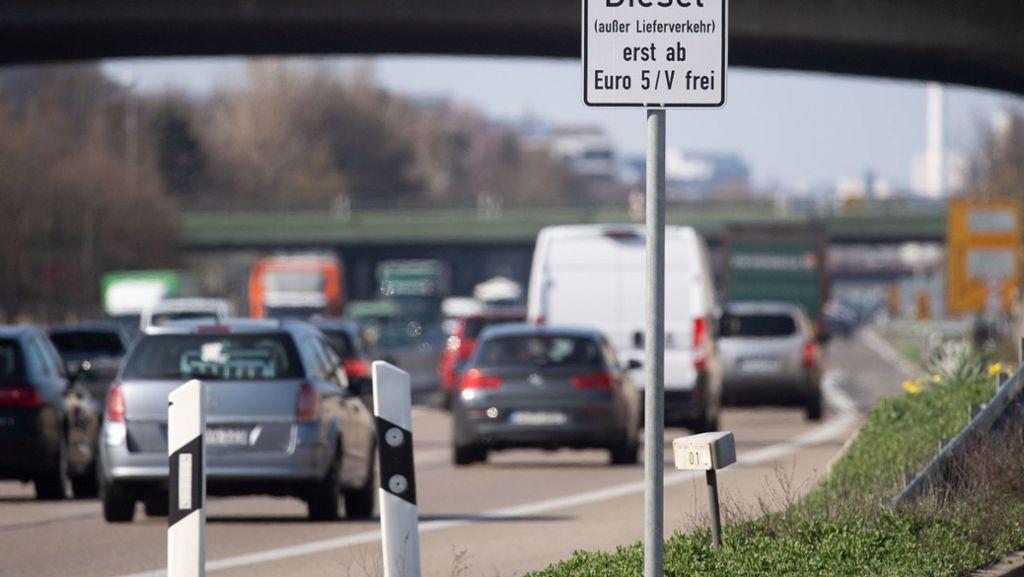 Auf mehreren Strecken drohen Fahrverbote für Euro-5-Diesel