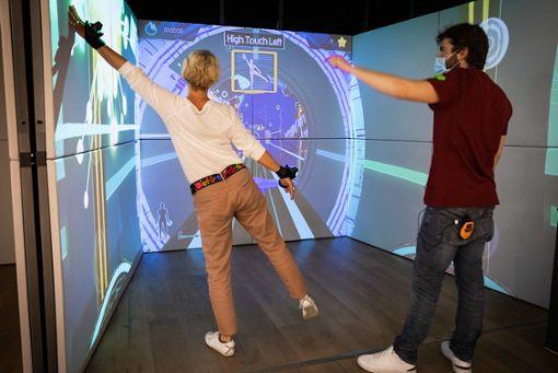 Exercube, das immersive Fitness Game Setting.