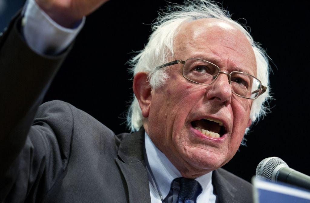 Bernie Sanders hat sich erstmals öffentlich geäußert, dass er Hillary Clinton wählen wird. Foto: FR61802 AP