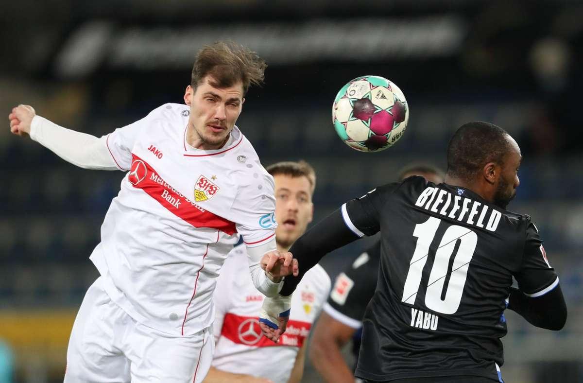 Der VfB Stuttgart hat bei Arminia Bielefeld 0:3 verloren. Wir haben die Leistungen der VfB-Akteure wie folgt bewertet. Foto: dpa/Friso Gentsch