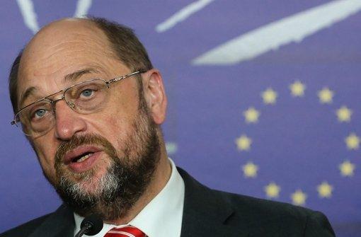 EU-Parlamentspräsident Martin Schulz fordert eine Lösung der Flüchtlingskrise. Foto: EPA