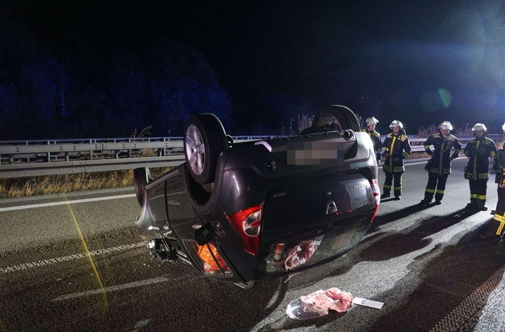 Dieser Unfall am frühen Montagmorgen löste die Kette an Folgeunfällen aus. Foto: SDMG