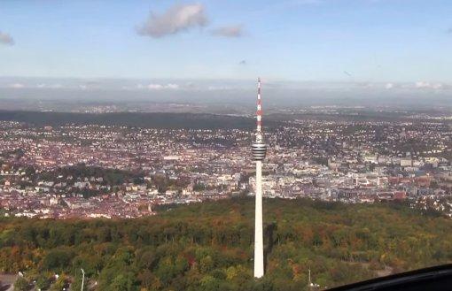 Stuttgart aus der Heliperspektive