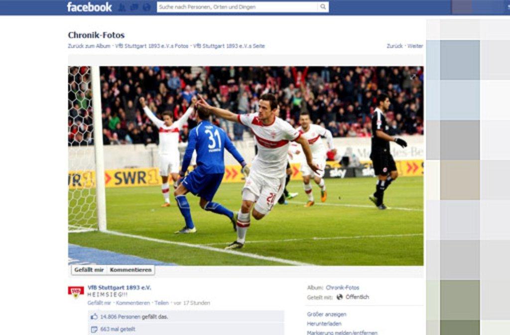 Der Verein selbst postete mit dem Abpfiff um 17.21 Uhr die entscheidende Nachricht dieses Spiels: H E I M S I E G!!! Foto: SIR (Screenshot)