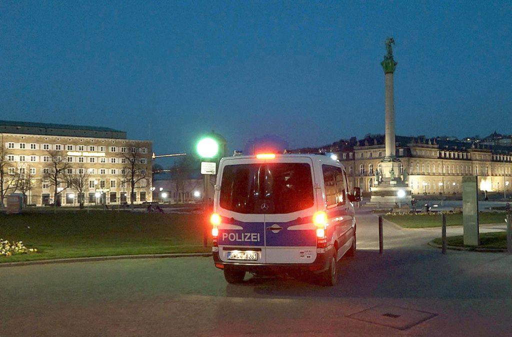 In der Innenstadt sind zur Zeit sehr viele Polizeistreifen unterwegs. Foto: 7aktuell/Oskar Eyb