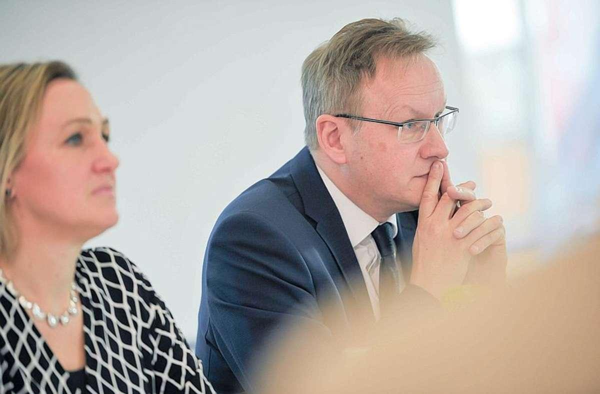 IHK-Präsidentin Marjoke Breuning und Hauptgeschäftsführer Johannes Schmalzl machen sich Sorgen um die Entwicklung der Wirtschaft im Südwesten. Foto: IHK