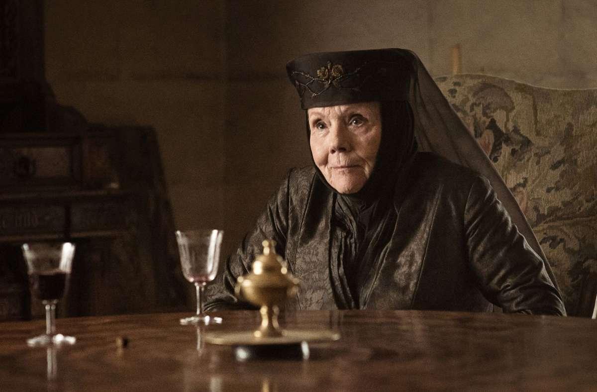 """Die britische Schauspielerin Diana Rigg als Oleanna Tyrell in der Fantasy-Serie """"Game of Thrones"""" Foto: AP/JOEL SAGET"""