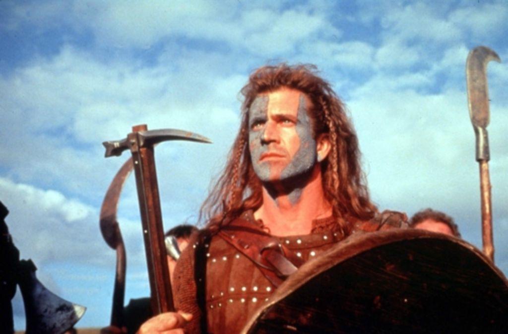 Ein Vorbild für den Wahlkampf: Braveheart (Mel Gibson). Foto: StZ
