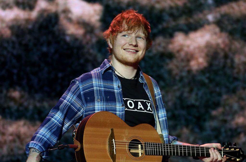 Ed Sheeran rockte den Hockenheimring (Bild von einem andere Auftritt). Foto: dpa