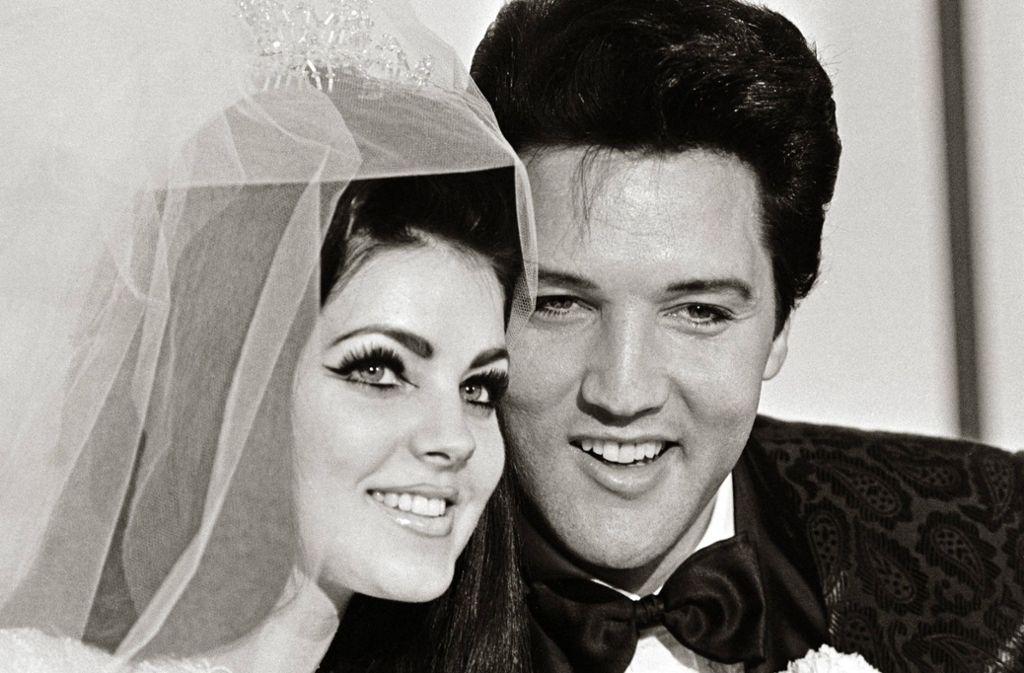 Priscilla und Elvis Presley am Tag ihrer Hochzeit am 1. Mai 1967 in Las Vegas. Foto: imago images