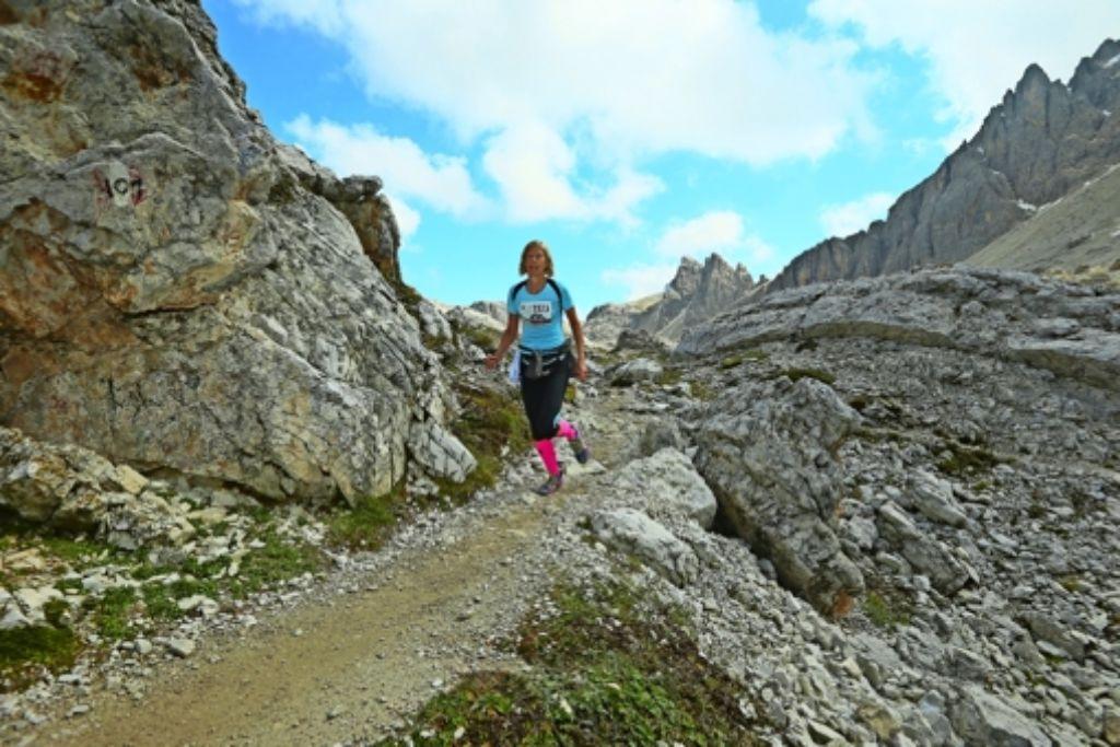 Susanne Reißer hat beim 17,5 Kilometer langen Drei Zinnen Alpine Run alles gegeben. Foto: privat