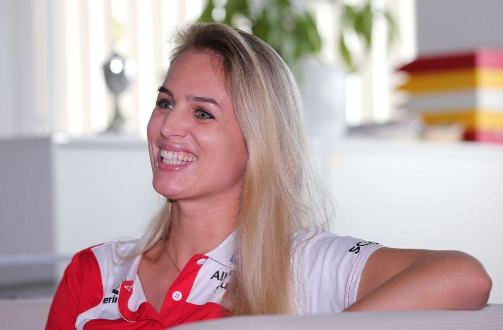 Strahlt Zuversicht aus: Kim Renkema, die Sportchefin von Allianz MTV Stuttgart Foto: Baumann