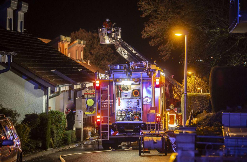 In Steinheim an der Murr kam ein Mensch bei einem Brand ums Leben. Foto: 7aktuell.de/Simon Adomat