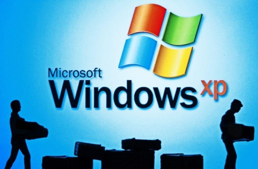 Aus für Windows XP: Microsoft hat im April alle Arbeiten daran eingestellt. Foto: dpa