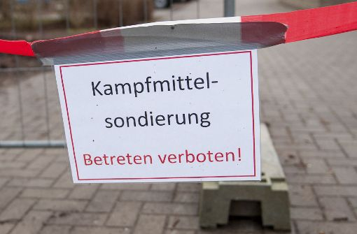 Fliegerbombe in Steinhaldenfeld vermutet
