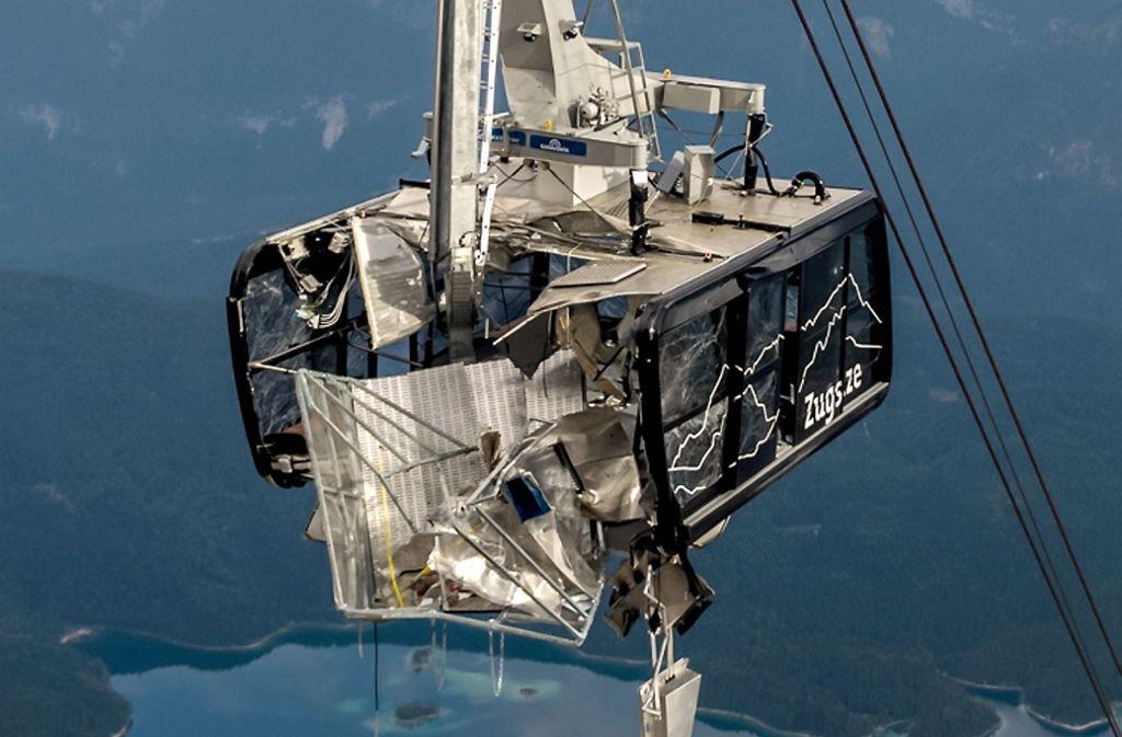 Fatales Ende einer Notfallübung. Foto: Bayerische Zugspitzbahn Bergbahn