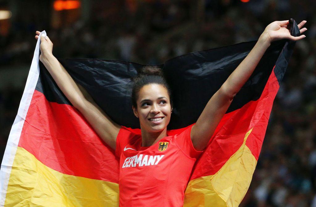 Marie-Laurence Jungfleisch ist seit Jahren Deutschlands beste Hochspringerin. Weitere Stars der Finals in Berlin sehen Sie in unserer Bildergalerie – klicken Sie sich durch. Foto: Baumann