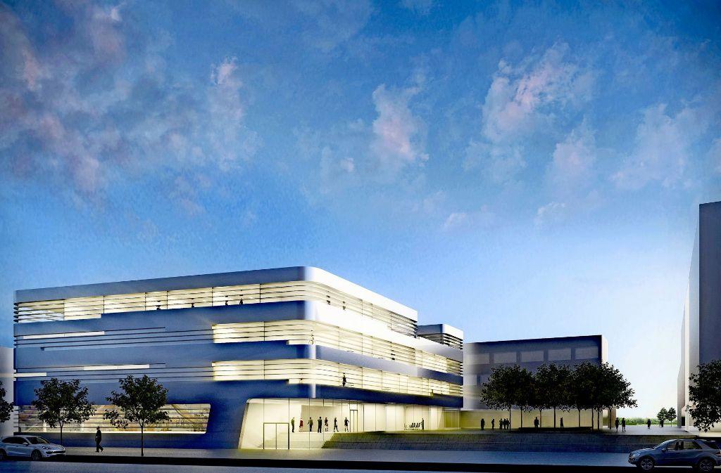 So soll der Fraunhofer-Neubau zum Thema Leichtbau südlich der Nobelstraße aussehen. Foto: Gewers Pudewill