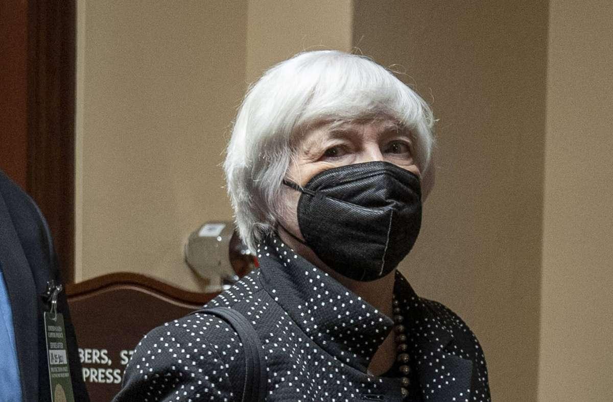 Ohne eine Anhebung der Schuldenobergrenze durch den Kongress droht der US-Regierung laut Finanzministerin Janet Yellen im kommenden Monat der Zahlungsausfall (Archivbild). Foto: imago images/UPI Photo/Ken Cedeno
