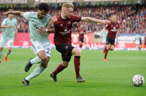 Bayern lässt in Nürnberg Punkte im Titelkampf liegen