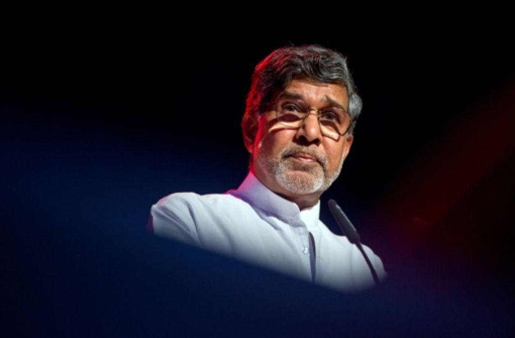 Kailash Satyarthi ist zu Gast beim Kirchentag in Stuttgart. Foto: dpa