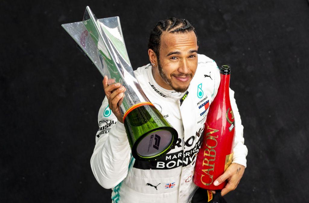 Michael Schumachers Motorengeräusche sind offenbar der Grund für die Formel-1-Leidenschaft von Lewis Hamilton. Foto: Getty