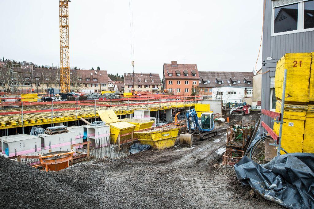 So sieht es momentan in Botnang aus - wir haben den Stand der Bauarbeiten in Bildern festgehalten. Foto: www.7aktuell.de | Florian Gerlach